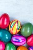 Cartão dos ovos da páscoa Foto de Stock