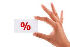 Cartão dos por cento imagens de stock royalty free