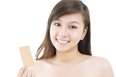 Cartão dourado Foto de Stock
