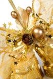Cartão dourado Fotos de Stock Royalty Free