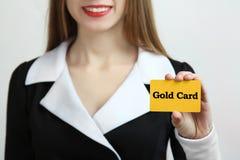 Cartão dourado Fotos de Stock