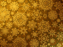 Cartão dourado do Feliz Natal. EPS 8 Imagem de Stock Royalty Free