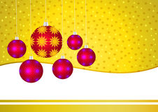 Cartão dourado do Natal Imagem de Stock