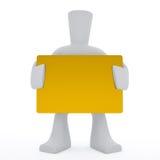 cartão dourado do sustento do caráter 3d Imagens de Stock Royalty Free