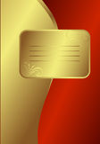 Cartão dourado real Fotografia de Stock Royalty Free