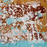 Cartão duro manchado com pintura para o reparo abctract Vista quadrada Imagens de Stock
