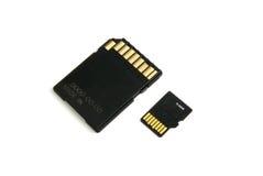Cartão e adaptador de memória foto de stock royalty free