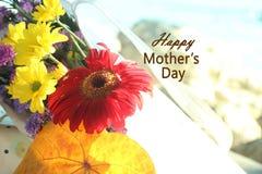 Cartão e cumprimentos do dia de mães fotos de stock royalty free
