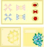 Cartão e etiquetas alegres Fotografia de Stock