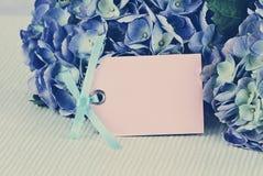 Cartão e flores do vintage Imagem de Stock Royalty Free