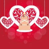 Cartão elegante Fotografia de Stock Royalty Free