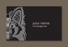 Cartão elegante com um cão Imagens de Stock Royalty Free
