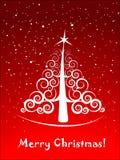 Cartão elegante da árvore de Natal Foto de Stock Royalty Free