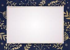 Cartão elegante do convite com beira floral foto de stock