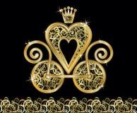 Cartão elegante do convite do casamento, vetor Imagem de Stock Royalty Free