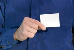 Cartão em branco à disposicão Fotografia de Stock Royalty Free