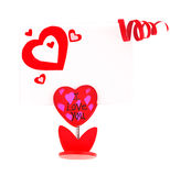 Cartão em branco com coração vermelho Imagem de Stock Royalty Free