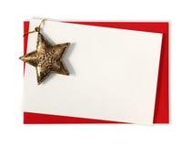 Cartão em branco com estrela Foto de Stock Royalty Free