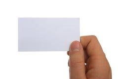 Cartão em branco com trajetos de grampeamento imagens de stock