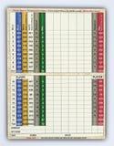 Cartão em branco da contagem do golfe fotos de stock royalty free
