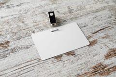 Cartão em branco da identificação imagem de stock