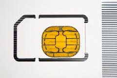 Cartão em branco da identificação com microplaqueta Foto de Stock