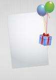 Cartão em branco do presente Imagem de Stock Royalty Free