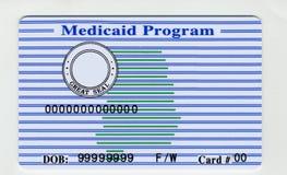 Cartão em branco dos EUA Medicaid fotografia de stock