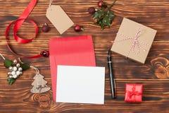 Cartão em branco Molde com espaço da cópia Papel vazio Fotos de Stock Royalty Free