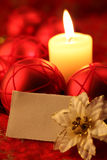 Cartão em branco no fundo do Natal Imagens de Stock