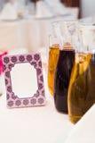 Cartão em branco Wedding Fotografia de Stock Royalty Free