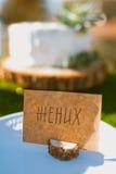 Cartão em branco Wedding Imagens de Stock