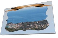 Cartão em 3D de Puerto de Soller Foto de Stock Royalty Free