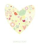 Cartão em o dia do Valentim Fotos de Stock Royalty Free