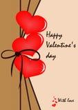 Cartão em um estilo romântico Foto de Stock
