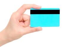 Cartão em uma mão Fotografia de Stock