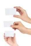 Cartão em uma mão Foto de Stock