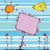 Cartão engraçado Fotografia de Stock Royalty Free