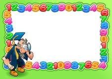 Cartão engraçado com espaço vazio para o texto. ilustração do vetor