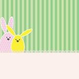 Cartão do coelhinho da Páscoa Imagens de Stock