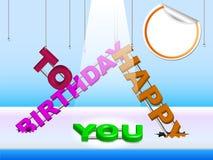 Cartão engraçado do feliz aniversario Imagens de Stock Royalty Free