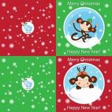 Cartão engraçado do Feliz Natal Foto de Stock