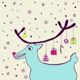 Cartão alegre do feriado ilustração stock