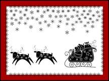 Cartão engraçado do Natal Fotografia de Stock
