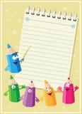 Cartão engraçado dos lápis Fotografia de Stock