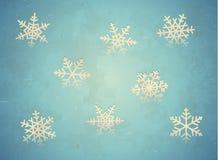Cartão envelhecido com floco de neve ilustração stock