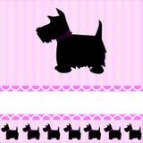Cartão escocês do cão do terrier ilustração stock