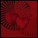 Cartão escuro com fundo da imagem da imagem da arte dos corações Fotografia de Stock