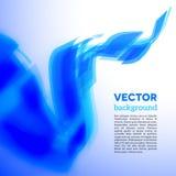 Cartão espiral do vetor com borda borrada Foto de Stock Royalty Free