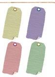 Cartão, etiqueta, velha, etiqueta de matéria têxtil Imagens de Stock Royalty Free